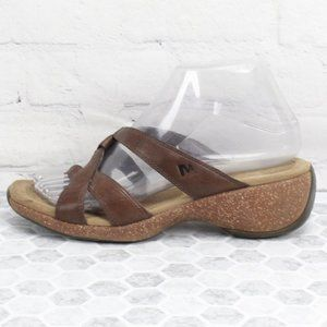 Merrell Brown Leather Thong Sandals size 7